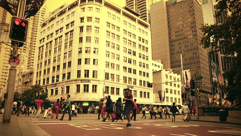 Sydney George Street 70s old film stylized 05 Footage