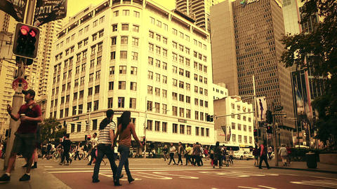 Sydney George Street 70s old film stylized 05 Stock Video Footage