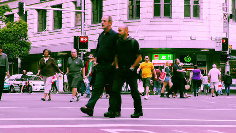 Sydney George Street 70s old film stylized 09 Footage