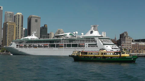 Sydney Harbour and Circular Quay Port 02 Stock Video Footage