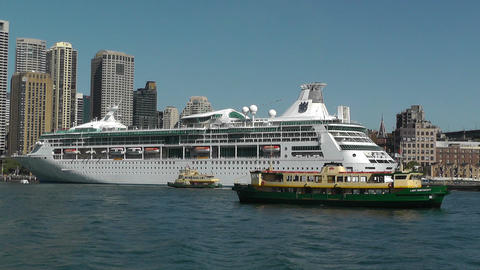 Sydney Harbour and Circular Quay Port 02 Footage