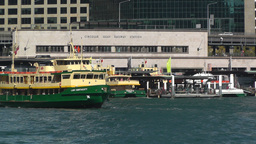 Sydney Harbour and Circular Quay Port 04 Stock Video Footage