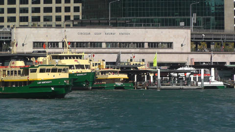 Sydney Harbour and Circular Quay Port 04 Footage
