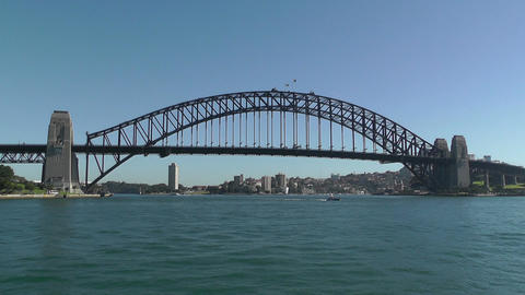 Sydney Harbour Bridge 02 Stock Video Footage