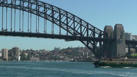 Sydney Harbour Bridge and Ferries Stock Video Footage