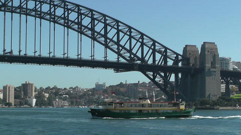 Sydney Harbour Bridge and Ferries Footage