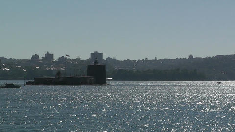 Sydney Harbour Fort Denison 02 Stock Video Footage