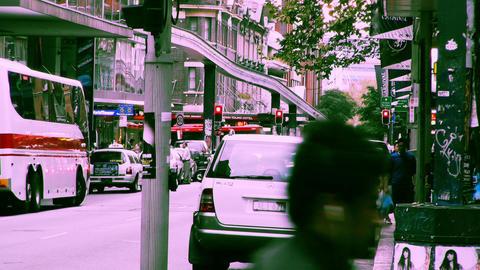 Sydney Liverpool Street 70s old film stylized 03 Stock Video Footage