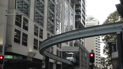 Sydney Liverpool Street Monorail 01 Stock Video Footage