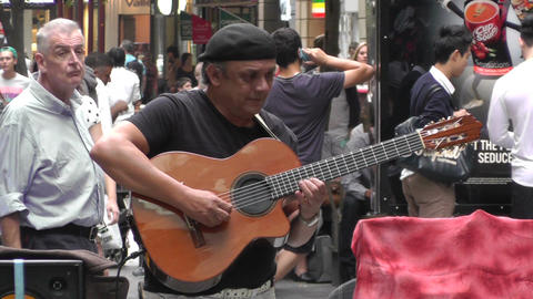 Sydney Pitt Street Musician 04 Footage