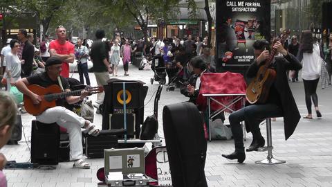 Sydney Pitt Street Musicians Tom Ward 01 Stock Video Footage