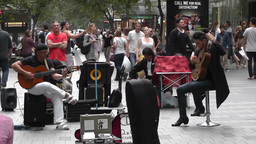 Sydney Pitt Street Musicians Tom Ward 01 Stock Video Footage