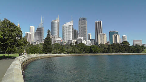 Sydney Royal Botanical Garden Farm Cove view to Sydney... Stock Video Footage