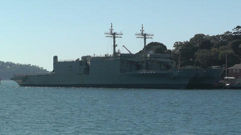 Sydney Wooloomooloo Bay Military Ships 02 Stock Video Footage