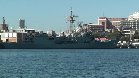 Sydney Wooloomooloo Bay Military Ships 04 Stock Video Footage