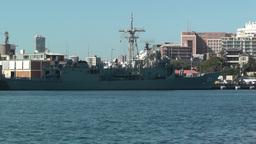 Sydney Wooloomooloo Bay Military Ships 04 Footage