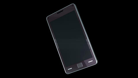 Smart phone with touchscreen: communication technology Stock Video Footage
