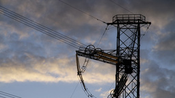 high voltage power pylon Stock Video Footage