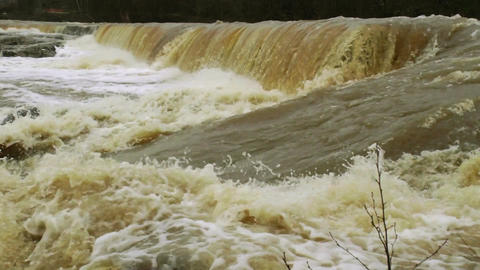 Waterfall in a river 6 Stock Video Footage