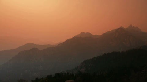 looking around layers of mountains Stock Video Footage