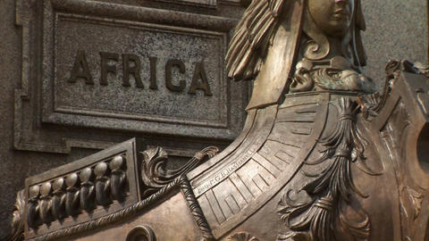 Brazil: Statue on Praca Sao Sebastiao, Manaus 1 Stock Video Footage