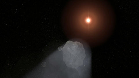 Comet Passing. CG. HD Stock Video Footage