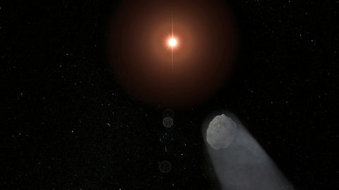 Comet Passing. CG. HD Animation