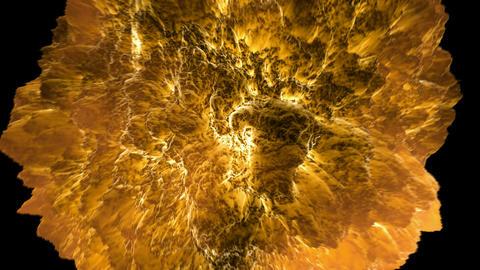 Fireball Explosion + Alpha CGI. HD Stock Video Footage