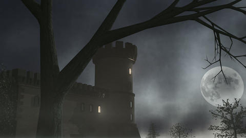 Haunted House 1 CGI-HD Stock Video Footage