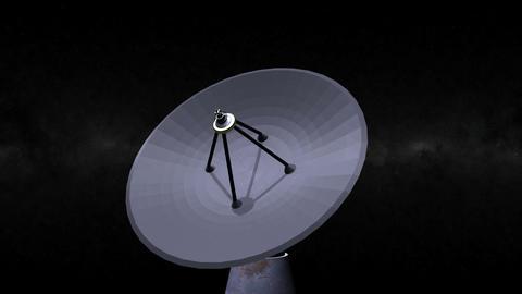 Radio / Satellite Dish turning. Loop. CG. HD Stock Video Footage
