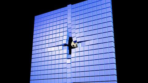 Soccerball Wall Zero Gravity Followcam CGI-HD Stock Video Footage