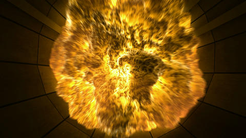 Tunnel Explosion. CG. HD Animation