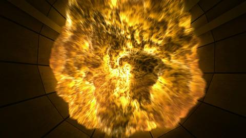 Tunnel Explosion. CG. HD Animation