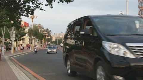 Heihe Evening Street Traffic 05 Stock Video Footage
