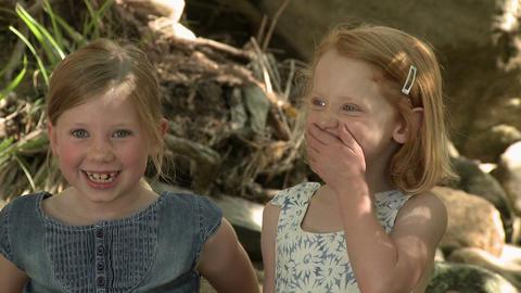 Two girls talking Stock Video Footage
