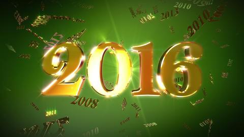 New Year 2016 Background Loopable Animation Animation