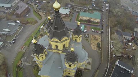 Russia, Nizhniy Novgorod, october, 2015 - cathedral Aleksandra Nevskogo dome, ae Footage