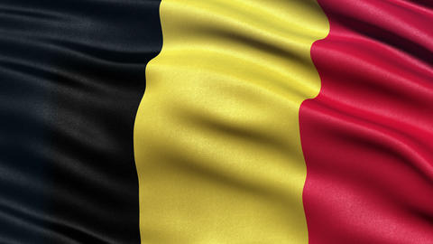4K Belgium flag seamless loop Ultra-HD Animation