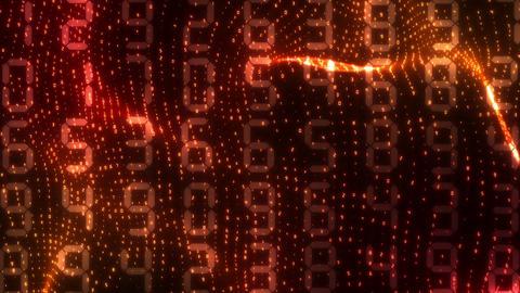 SHA Red Wave Cyber BG Image Animation