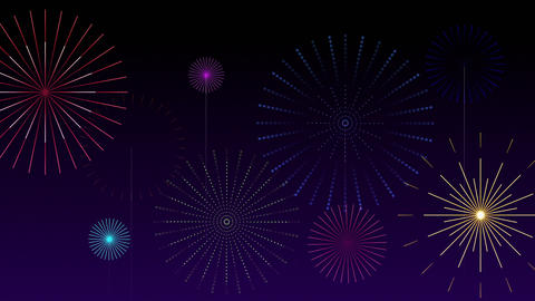 Stylised Fireworks 2 Animation