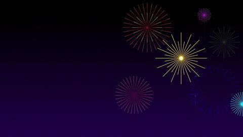 Stylised Fireworks 2, Stock Animation