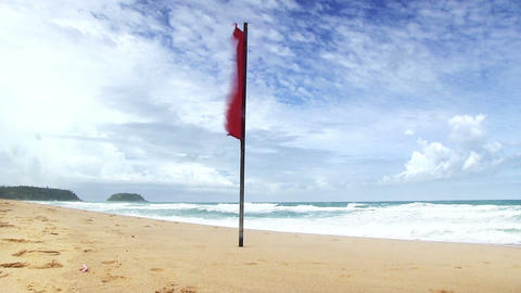 "red flag no swimming"" Footage"