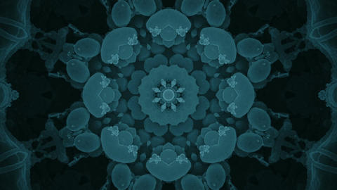 S 0058 Gentle Blue Fractal Keleidoscope Background From Virus Image stock footage