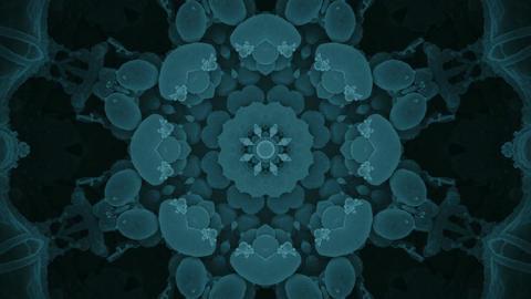 S 0058 Gentle Blue Fractal Keleidoscope Background from Virus Image Footage