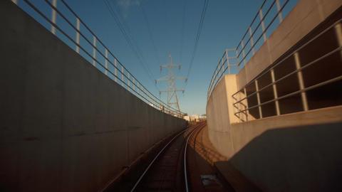 S 0013 DLR Train Hyperlapse Woolwich Bank Footage