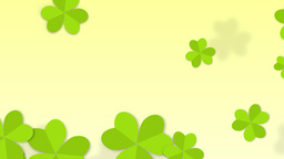 St. Patrick's Clover Animated Background stock footage