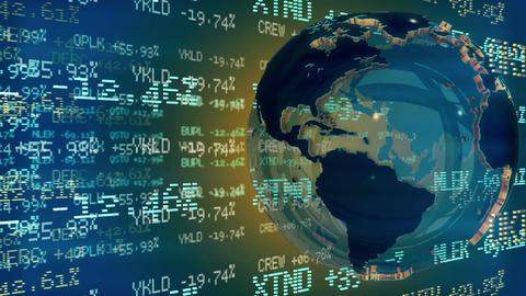 Stock Market Tickers. Loopable Animation