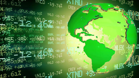 Stock Market Tickers. Loopable stock footage