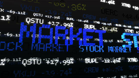 Stock Market Tickers. Loopable Animation
