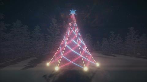 Animated flashlights on a Christmas tree loopable Animation